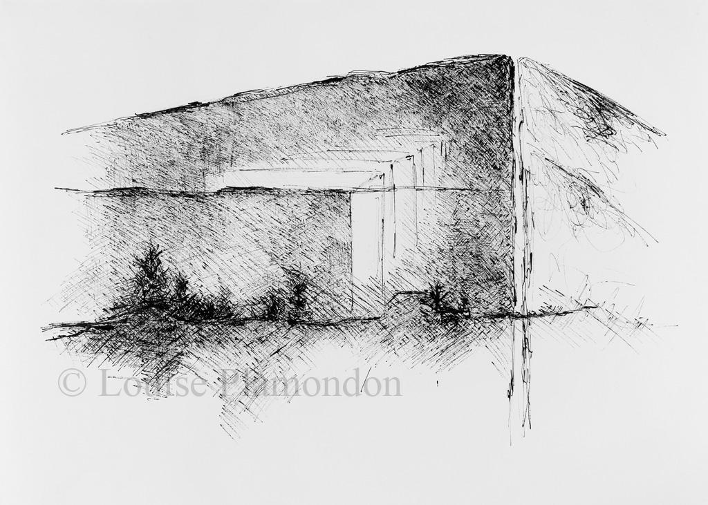 Encre sur papier, 90 x 130 cm
